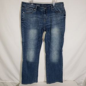 Mossimo Bootcut Jeans Mid Rise Whiskered Size 12